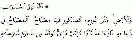 مقارنة الآيات بالروايات سورة الن ور الآية 35